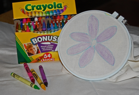 crayons and hoop